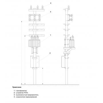 Столбовая трансформаторная подстанция СТП-1,25/10/0,4 У1