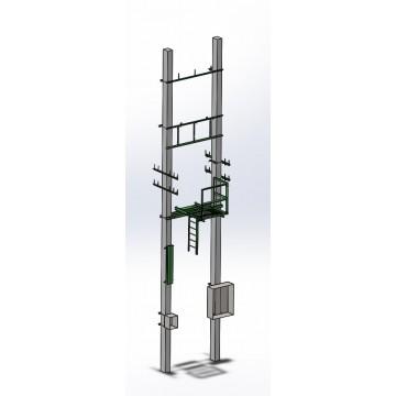 Мачтовая трансформаторная подстанция МТП-100/10/0,4 У1